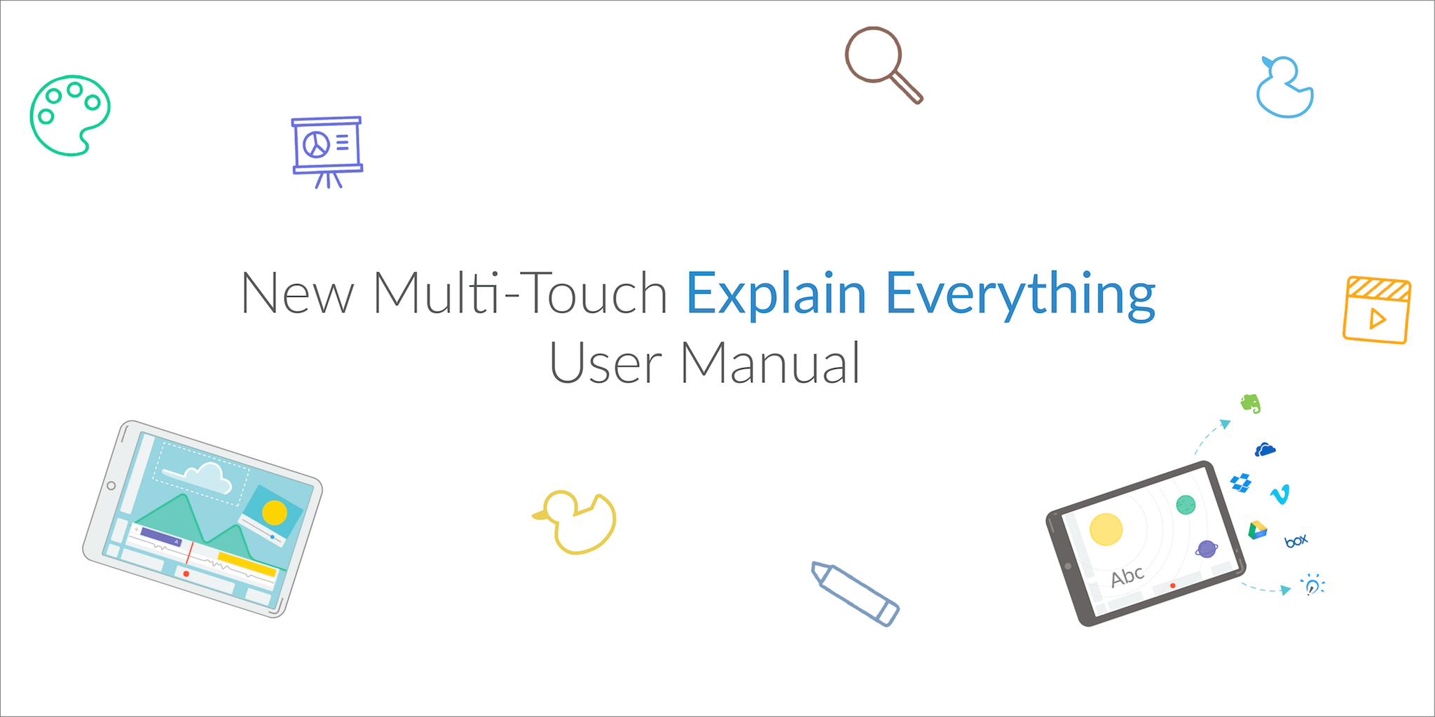 Multitouch iBook about Explain Everything